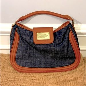 BUGA BAGS by CHARO Denim & Tan Leather